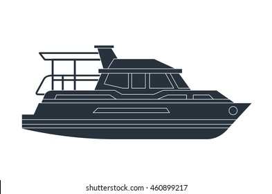 yacht boat transport icon vector graphic isolated