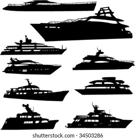 yacht colection - vector