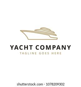Yacht / Cruise Logo design inspiration with minimalist line art style