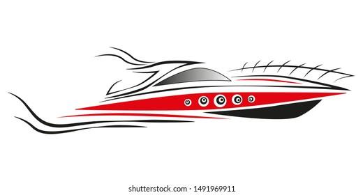 Yacht logo design. Sport concept. Vector illustration. Art graphic.