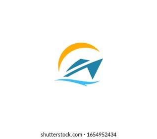 Yacht logo icon vector design