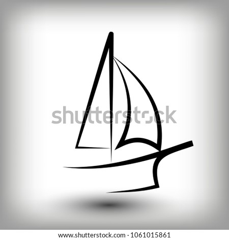 yacht logo templates sail boat silhouettes stock vector royalty