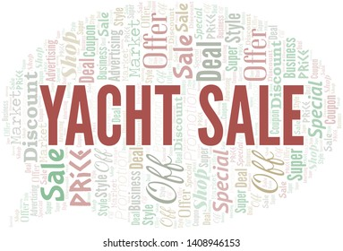 Yacht Sale Word Cloud. Word cloud Made With Text.