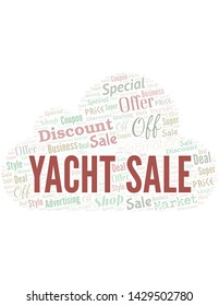 Yacht Sale Word Cloud. Wordcloud Made With Text.