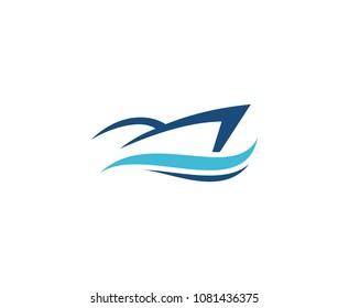 Yacht ship logo