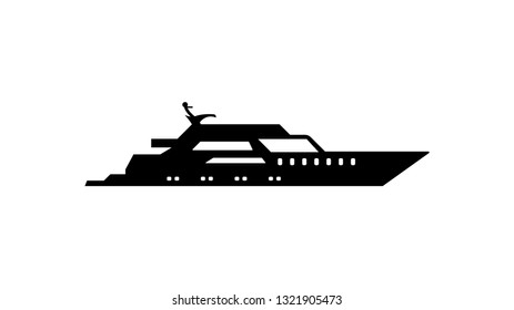 Yacht ship silhouette icon. Element of ship icon. Premium quality graphic design icon. Signs and symbols collection icon for websites, web design, mobile app