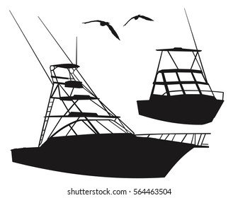Fishing Boat Silhouette Images Stock Photos Vectors Shutterstock
