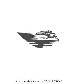 yacht sillhouete vector