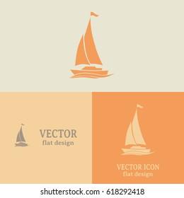 yacht vector icon