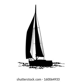 Yacht. Vector illustration