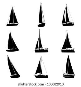 sailboat silhouette images, stock photos & vectors | shutterstock