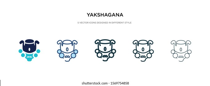 yakshagana icon in different style vector illustration. two colored and black yakshagana vector icons designed in filled, outline, line and stroke style can be used for web, mobile, ui