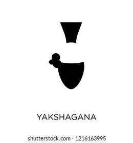 yakshagana icon. yakshagana symbol design from India collection. Simple element vector illustration on white background.