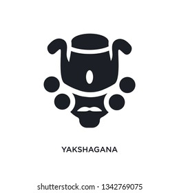 yakshagana isolated icon. simple element illustration from india concept icons. yakshagana editable logo sign symbol design on white background. can be use for web and mobile
