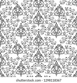 Yakut floral seamless ornament pattern. Yakutia, Republic of Sakha is the largest region of Russia.  Vector illustration. Can be used for textile, greeting business card background, book, phone case