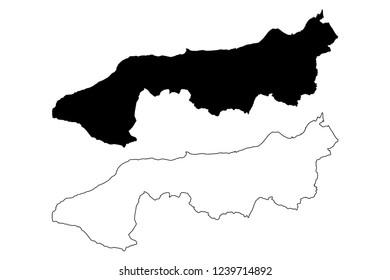 Yalova (Provinces of the Republic of Turkey) map vector illustration, scribble sketch Yalova ili map