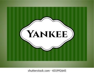 Yankee card or banner