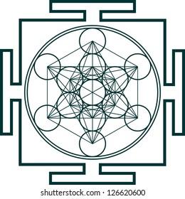 Yantra - Metatrons Cube - Flower of life