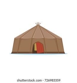 Yaranga, traditional hous of north people vector Illustration