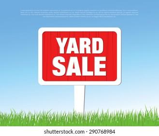 yard sale board