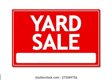Yard Sale Vector Sign