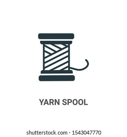 Yarn spool vector icon on white background. Flat vector yarn spool icon symbol sign from modern art collection for mobile concept and web apps design.
