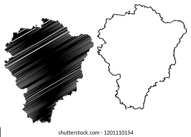 Yaroslavl Oblast (Russia, Subjects of the Russian Federation, Oblasts of Russia) map vector illustration, scribble sketch Yaroslavl Oblast map