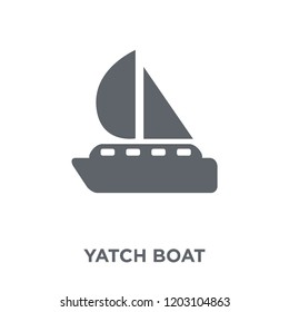 Yatch boat icon. Yatch boat design concept from Summer collection. Simple element vector illustration on white background.