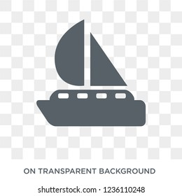 Yatch boat icon. Yatch boat design concept from Summer collection. Simple element vector illustration on transparent background.