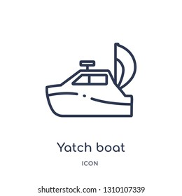 yatch boat icon from summer outline collection. Thin line yatch boat icon isolated on white background.