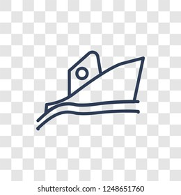 Yatch boat icon. Trendy linear Yatch boat logo concept on transparent background from Summer collection