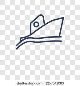 Yatch boat icon. Trendy Yatch boat logo concept on transparent background from Summer collection
