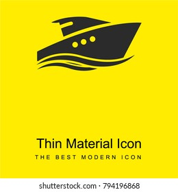 Yatch bright yellow material minimal icon or logo design