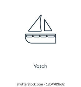 Yatch concept line icon. Linear Yatch concept outline symbol design. This simple element illustration can be used for web and mobile UI/UX.