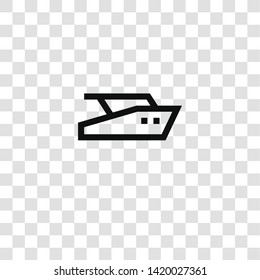 yatch icon from  collection for mobile concept and web apps icon. Transparent outline, thin line yatch icon for website design and mobile, app development
