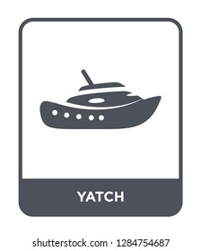 yatch icon vector on white background, yatch trendy filled icons from Nautical collection, yatch vector illustration