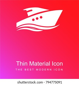 Yatch red and pink gradient material white icon minimal design
