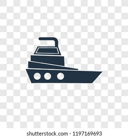 Yatch vector icon isolated on transparent background, Yatch transparency logo concept