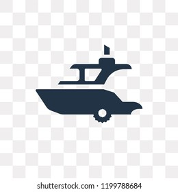 Yatch vector icon isolated on transparent background, Yatch transparency concept can be used web and mobile