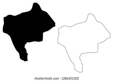 Yazd Province (Provinces of Iran, Islamic Republic of Iran, Persia) map vector illustration, scribble sketch Yazd map