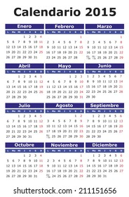 Mayo Calendario 2015