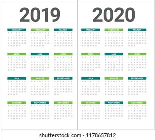 Calendario 2020 Word.2020 Images Stock Photos Vectors Shutterstock