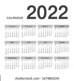 Ku Spring 2022 Calendar.Calendar 2022 High Res Stock Images Shutterstock