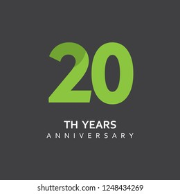 Year Anniversary Vector Template Design Illustration.