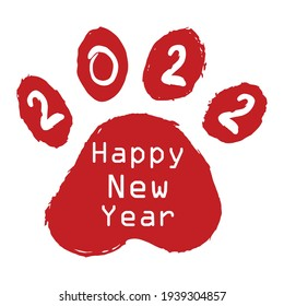 Year of the dog Happy new year, ensign for greeting cards, calendars, banners, posters, invitations.