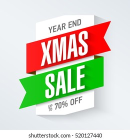 Year end Christmas sale banner