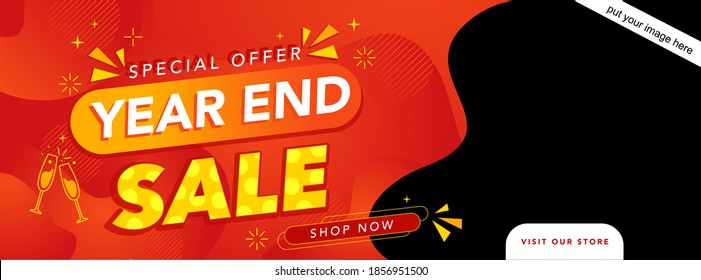 Year end sale banner editable