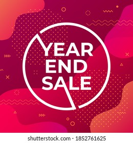 Year end sale banner template.