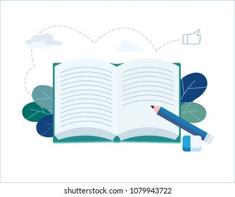 Year End Summary review vector illustration.