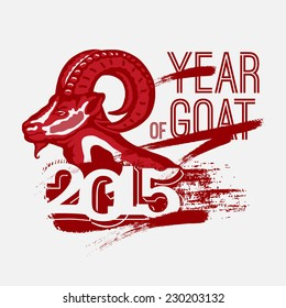 Year of Goat 2014. vector